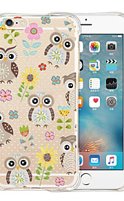 Cute Owl Soft Transparent Silicone Back Case for iPhone 6/6S (Assorted Colors)
