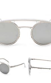 Solbriller kvinder's Retro/vintage / Mode Oval Sort / Sølv / Guld Solbriller Full-Rim