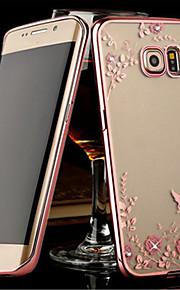 Per Samsung Galaxy S7 Edge Transparente Custodia Custodia posteriore Custodia Fiore decorativo TPU SamsungS7 edge / S7 / S6 edge plus /