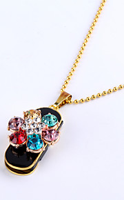 16GB Necklace 7 Colorful Flower Jewelry USB 2.0 Rotatable Flash Memory Stick Drive U Disk ZP-06