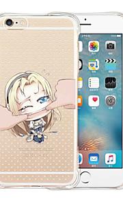 Jag är inte din docka mjuk transparent silikon Tillbaka till iPhone 6 / 6s (blandade färger)