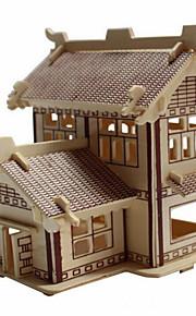 A madeira pavilhão academia 3d puzzles DIY brinquedos