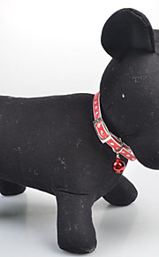 Lovely Crystal Bell Leather Cord Pet Collars