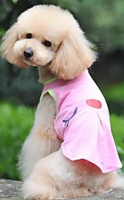 Собаки Жилет Зеленый / Розовый Лето / Весна/осень Классика / Однотонный Мода-Lovoyager