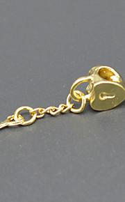 DIY beaded halskæde armbånd øreringe tilbehør 18 plating guld hjerteformede ornamenter er centrale hac0067