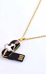 64GB Necklace USB 2.0 Ballerina Ballet Dancer Jewelry Rotatable Flash Memory Stick Drive U Disk ZP-07