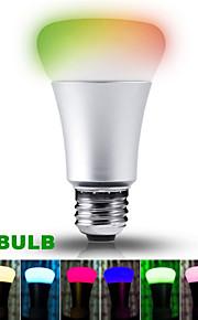 1 stk. HRY E26/E27 10W 9 Høyeffekts-LED 1100LM lm RGB A90 Dimbar / Fjernstyrt / Dekorativ LED-scenelys AC 85-265 V