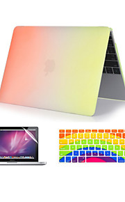 "3 in 1 Rainbow Colorful Plastic Full Body  Case +Keyboard Cover+ Screen Protector for MacBook  Pro 13""/ 15'' with Retina"