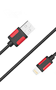 Lightning Sladd Laddningskabel Laddningssladd Data och synkronisering Normal Kabel Till Apple iPhone iPad 100