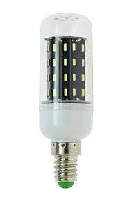 1 stk. E14 / G9 / GU10 / B22 / E12 / E26 / E26/E27 4W 56 SMD 4014 300 lm Varm hvit / Kjølig hvit T LED-kornpærer AC 85-265 V