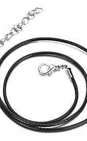 vilam® fast fire typen DIY halskæde kæde læder kobber vil ikke falme farven skinner 4 stk