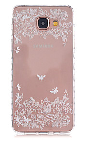 Butterfly Leaves Pattern Slip TPU Phone Case For Samsung Galaxy A3(2016)/A5(2016)