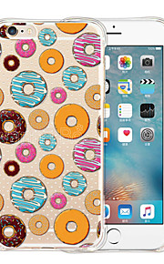 Love Donuts Soft Transparent Silicone Back Case for iPhone 6/6S (Assorted Colors)