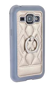 Custodia in pelle nuova per la galassia J1 titolare dello stand squillo del telefono J100 360 rotazione posteriore protettivo guscio di