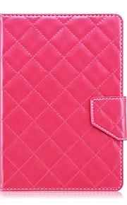 patrón de cuadros caja de la tableta de cuero universal de la cubierta del caso del soporte de 7 pulgadas para la cubierta del tirón