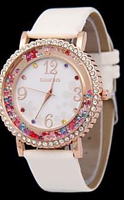 Women's New Fashion Diamond Dial Rhine Stone Sand Belt Quartz Watch(Assorted Colors)