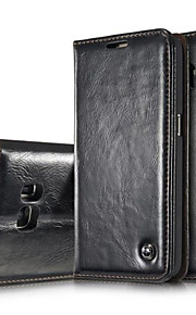 caso folio vera pelle magnete della copertura di vibrazione della cassa del cuoio copertura del raccoglitore per la galassia S7 / S7 edge