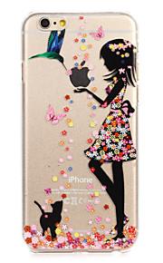 """blomst kjole malt mønster hard plast tilbake bukt for iphone6plus / 6splus 5,5 """""""
