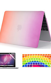 "3 in 1 Rainbow Colorful Plastic Full Body  Case +Keyboard Cover+ Screen Protector for MacBook  Pro 13""/15'' with Retina"