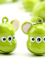 Three-eyed Monster Cartoon Pure Copper Pet Pendant Bell(2 PCS 2cm)