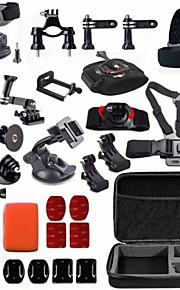 GoPro accessories 33 in 1 Shockproof Bag Phone Holder J-Hook Mount for Go pro Hero 4 3+ 2 1 xiaomi yi sj4000 camera