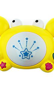 fancy på tromlen tage tromme musik, tegneserie kid-learning elektriske legetøj baby-krabber med lys