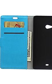 estilo del tirón cubierta de la carpeta con la ranura para tarjeta para el caso del Nokia Lumia 540 Cass caso de la moda patrón de textura
