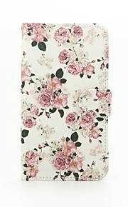 Peony Patter PU Leather Full Body Case with Stand for Wiko Lenny2
