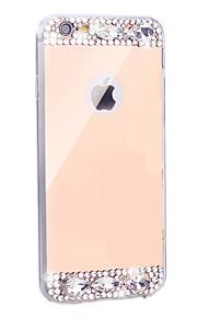gull / sølv diamant bling krystall tpu plating speil telefon tilfelle for Apple iPhone 5 / 5s