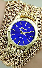 novas mulheres genebra relógio pulseira de presente assistir envoltório liga para as mulheres