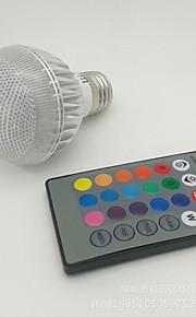 1 st NO E26/E27 3W 1 Högeffekts-LED 100-300 lm RGB A60(A19) Fjärrstyrd Smart LED-lampa AC 85-265 V