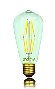 1 stk. NO B22 / E26 / E26/E27 6W 8 COB 400-500 lm Varm hvit ST64 Dimbar / Dekorativ LED-globepærer AC 220-240 / AC 110-130 V