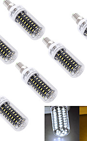 6 stk. YouOKLight® E14 / E26/E27 5W 72 SMD 4014 300 lm Varm hvit / Kjølig hvit T Dekorativ LED-kornpærer AC 220-240 / AC 110-130 V
