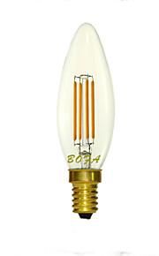 1 stk. NO E14 / E12 / E26 / E26/E27 3W 4 COB 100-280 lm Varm hvit C35 Dimbar / Dekorativ LED-globepærer AC 220-240 / AC 110-130 V