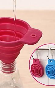 silikon gel sammenleggbar sammen stil trakt hopper kjøkken matlaging verktøy (tilfeldig farge)