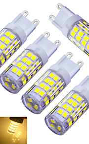 5 stk. Jiawen G9 3W 51 SMD 2835 240-300 lm Varm hvit / Kjølig hvit T Dekorativ LED-lamper med G-sokkel AC 220-240 V