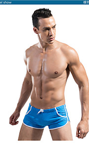 Sexy Men's String Swimming Trunks Boxer Pocket Swim Trunks Beach Swimming Trunks