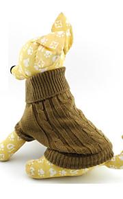 Suéter Tejido de Estilo Clásico Europeo para Perros y Gatos - Marrón, de XS a M