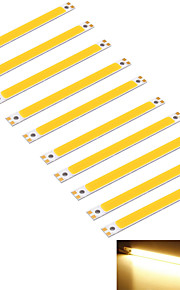 youoklight® 10pcs 10w 950lm cob 1-ledede varm hvit 3000K rektangel stripe (dc 12 ~ 14V)