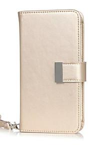 카드 슬롯 아이폰 6에 대한 고급 아이폰 전화 케이스 다기능 지갑 케이스 / 6S / 6plus / 6splus PU 가죽 플립 커버
