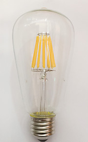 1 stk. kwb E26/E27 9W / 10W 10 COB 850 lm Varm hvit ST64 edison Vintage LED-glødepærer AC 220-240 V