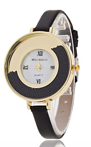 Ladies' Wrist Watch Disc Ball Roman Numerals Belt Ms. Quartz Watches(Assorted Colors)