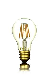1 stk. NO E26 / E26/E27 3W 3 COB 200-300 lm Varm hvit A60(A19) Dimbar / Dekorativ LED-globepærer AC 220-240 V
