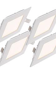 4pcs 3W Square dimmable LED Panel light 2800-6500K SMD 2835 Epistar chip AC 110/220V