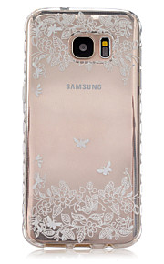 Butterfly Leaves Pattern Slip TPU Phone Case For Samsung Galaxy S7/S7 edge