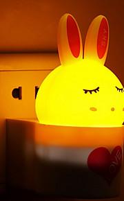 kreativ varm hvit kanin lyssensor lyd induksjon om babyen sove nattlys (assortert farge)