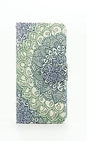 mandala mønster pu læderetui med kort slot og står for Samsung Galaxy A310 / A510