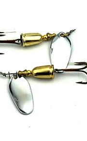 Factory Spoon Fishing Lures 67mm 8.9g Metal Spoon Spinner Baits Random Colors