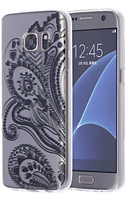 logrotate®feather דפוס TPU במקרה רך עם מגיני מסך עבור קצה Samsung Galaxy S7 / S7 קצה / S6 / S6
