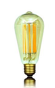 1 stk. NO B22 / E26 / E26/E27 8W 8 COB 450-650 lm Varm hvit ST64 Dimbar / Dekorativ LED-globepærer AC 220-240 / AC 110-130 V